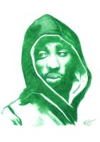 Tupac Shakur Pencil Sketch by DJMark563