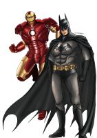Batman and Ironman Crossover by hitokaji