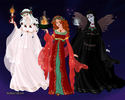 Ghosts of Christmas Past, Present and Yet To Come by Saphari