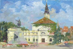 In the Center of Kecskemet by DChernov