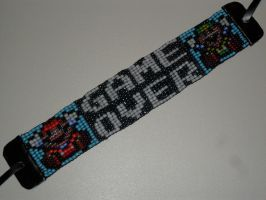 Super Mario Bros GAME OVER beaded bracelet by kayanah