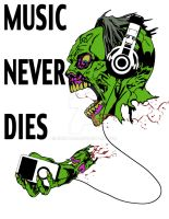 Music Never Dies Zombie by quintajo