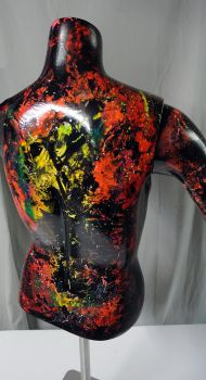 Spray paint on mannequin bust by Airgone