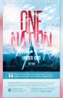 One Nation Under God Flyer and CD Template by loswl