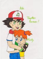 Ash and Misty Together Forever by MSKM2001