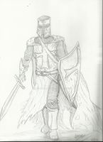Knight Drawing By Ace8986 by Ace8986