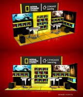 NAT GEO  MOBILE LIBRARY STAND 6X2 MTS by kusanagisensei