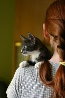 Girl with cat by Blinkh