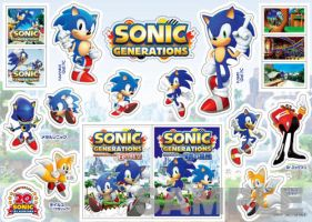 Sonic Generations Stickers by Silversonicvxd