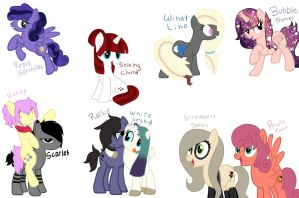 Adopted Oc's, my little ones by Rainbows-Lover