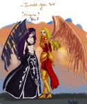 League of Legends- Sisters Morgana and Kayle by NoraNecko