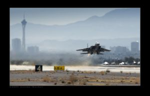 F15E Skyline Takeoff by jdmimages
