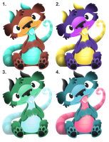 Point Adoptable Puppy Dragons: OPEN by Rosieposie38