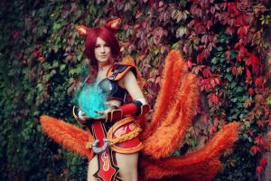 Foxfire Ahri Cosplay - No one will stand in my way by xTouko