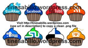 Cupcake Social Media icons by summerellie