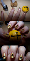 Hollywood Undead Danny Themed Nails by GingaAkam