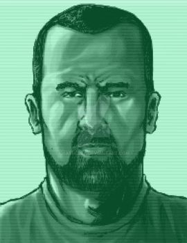 CLAYTON DALEY METAL GEAR SOLID CODEC portrait by xASHLERx