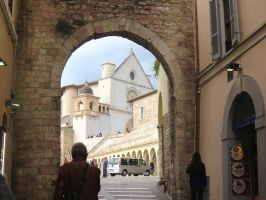 Assisi Through an Arch by ShipperTrish