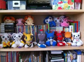 My Digimon Beanie Collection - April 2013 by superhero83