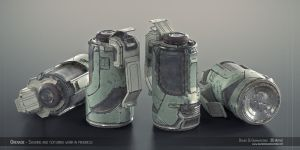 Sci-fi Grenade Shading WIP 1 by lordsme