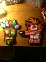 Crash Bandicoot Perler Bead Sprites! by 8bitsofawesome