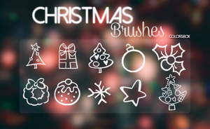 Christmas Brushes || C. by ColorsBox