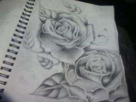 rose drawing by KingTaTTz