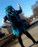 Miku  love is a war cosplay  #4 by jessthecase88