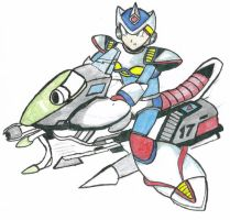 Mega Man X in Land Chaser by Shinobi-Gambu