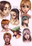 sketches of faces by Laly-DeRose