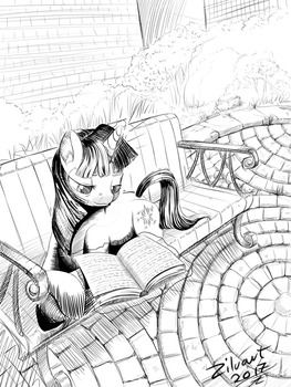 Twilight reading daily draw 0007 by zilvart