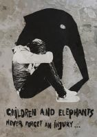 Children and elephants never forget an injury by MalgorzataBrudnicka