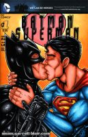 Batman + Superman in Love sketch cover by gb2k