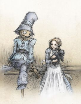 Dorothy and the Scarecrow by ejbeachy