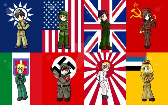 South Park WWII Nations by SouthParkPhilosopher