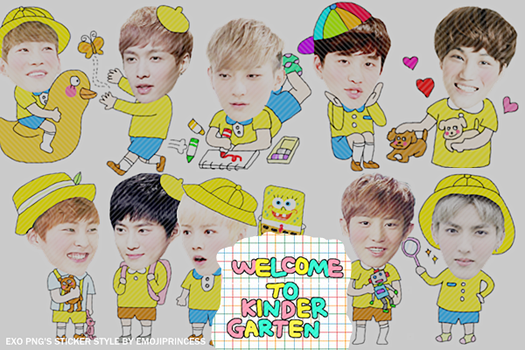 [EXO] Welcome to Kinder Garten - 10 PNG's by emojiprincess