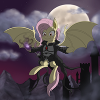 Fluttershy, Lord of Poninnistrad by Janji009
