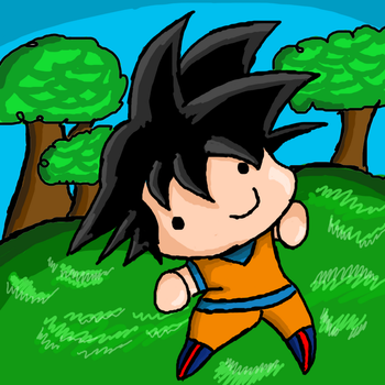 Smol Goku by KonataCha