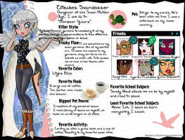 New School Year Bio: Elisabet by GreenTeaDeer