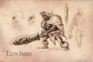 T'lan Imass Sketches by Nether83