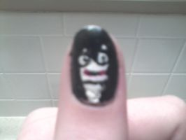 Jeff The Killer nail art by WolfyTheVampire