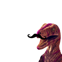dino with a moustache! by wolfe111