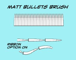 Matt's Bullets Brush for Manga Studio 5 by toongsteno