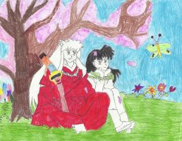 Spring love: Inuyasha X Kagome by robjohnmarie