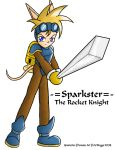 Sparkster in his armor by artisticTaurean