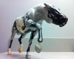 Battlecry custom breyer WIP Upclose BALLS by pookyhorse