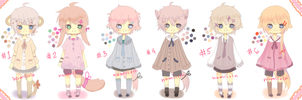 Kemonomimi Adopts Batch 4 - CLOSED by namiirin