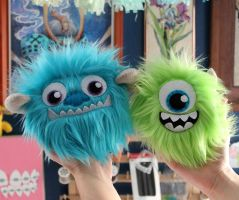 Mike and Sully Fluffballs by loveandasandwich
