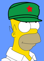 homer simpson communist china hat by verybigbonedvirtuoso