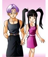 Chisachi and Trunks by LittleMirai